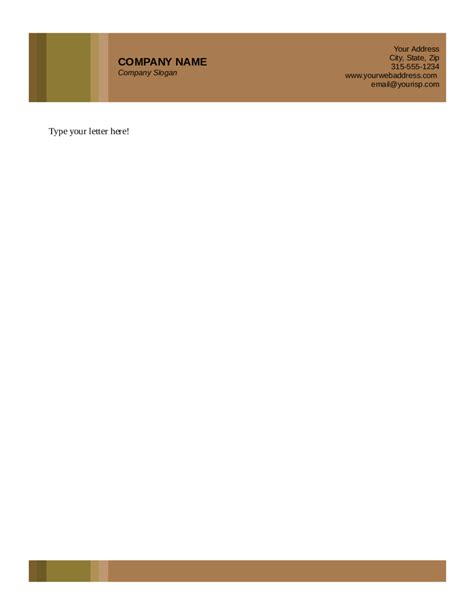 free business letterhead templates letterhead sle evolist co