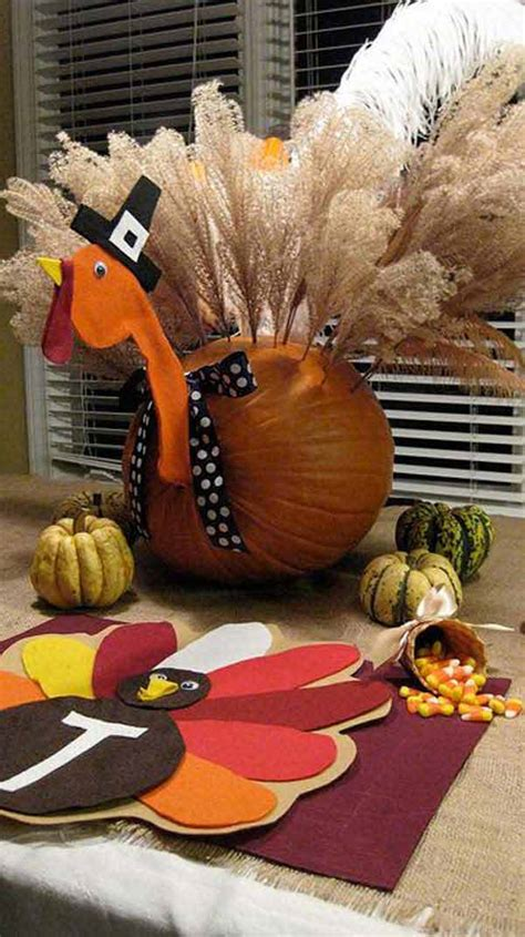 turkey inspired decorations and crafts for thanksgiving home amazing diy interior home design