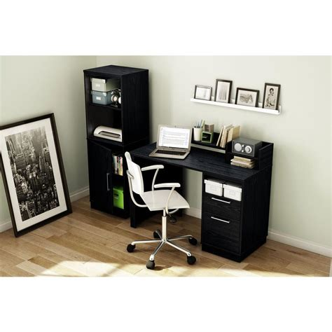 south shore academic desk south shore academic black oak workstations 7247795 the