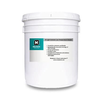 Molykote 33 Low Temperature Bearing Grease Moly Murah dow corning molykote 33 low temperature bearing grease light white 18 kg pail