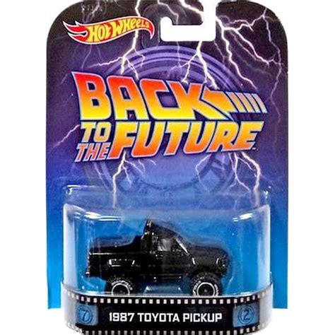 Hotwheels 1 64 Retro Back To The Future Time Machine Hover Mode 1 wheels retro 1987 toyota back to the future