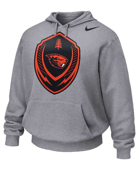 Jaket Sweater Hoodie Oregon Hoodies Home Clothing lyst nike s oregon state beavers icon performance hoodie in gray for