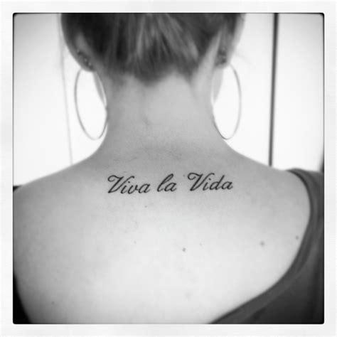 tattoo la viva la vida