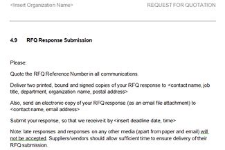 Request For Quotation Rfq Template Request For Quote Email Template