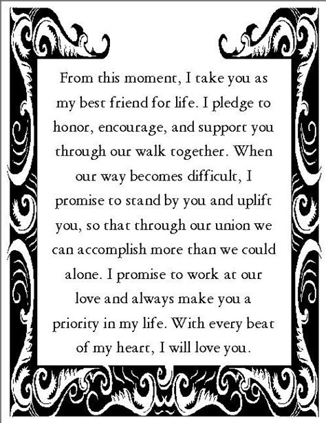 wedding vows exles for and for him