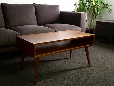 couches in alleys midcentury style coffee table by flint alley furniture