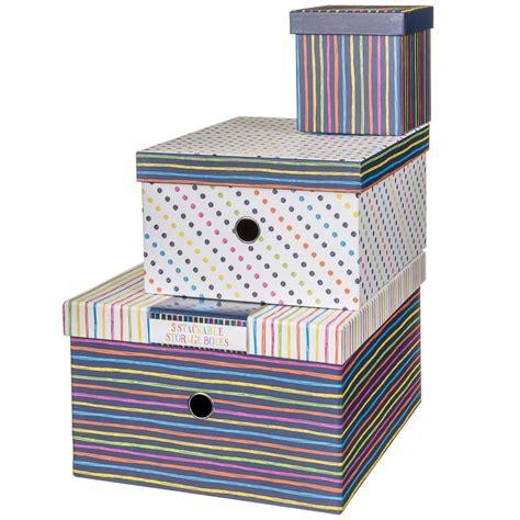 storage box nest pc stripes paper storage storage boxes