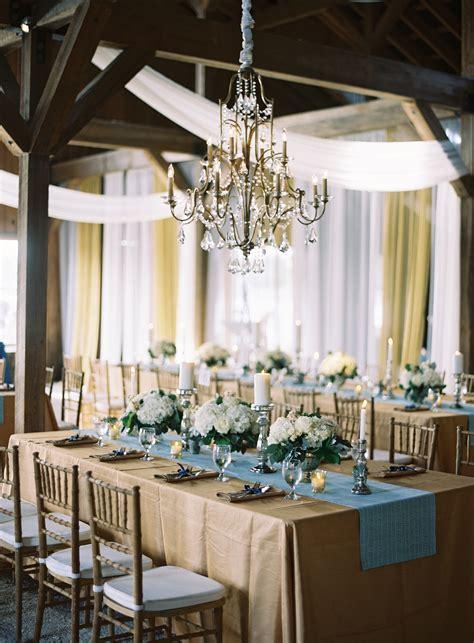 elegant blue  gold barn wedding elizabeth anne