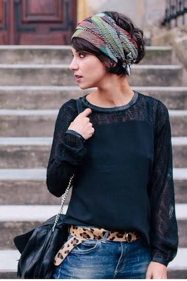 Images Of Short Choppy Hair With Bandanna | eppcoline love this style yes pinterest hair style