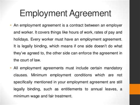 Sle Letter Of Agreement Between Employer And Employee Employment Agreement