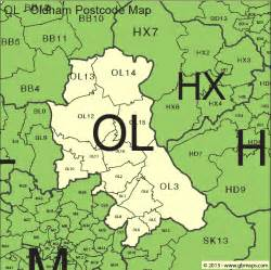map of oldham oldham postcode area and district maps in editable format