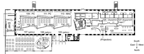 2nd Floor Plan click on a room to view the class schedule