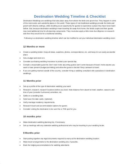 Wedding Checklist Timeline Pdf by Sle Wedding Timeline 7 Documents In Pdf