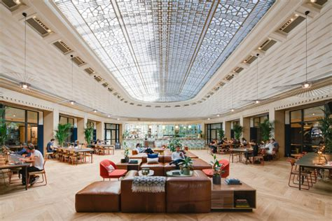 design milk office wework la fayette co working space gives nod to the 1920s