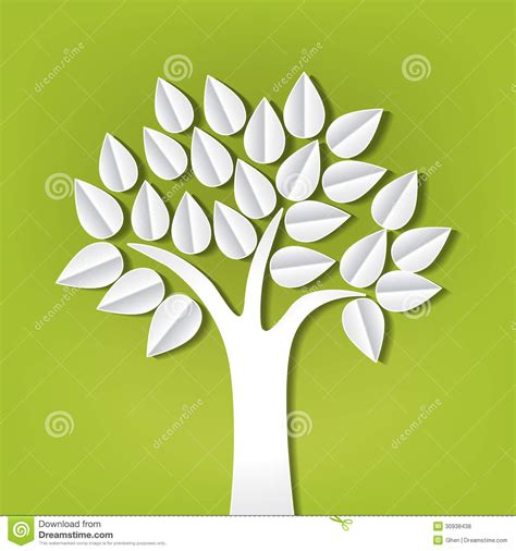 How To Make Paper Cut Out - tree made of paper cut out stock vector image of