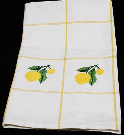 Lemon Kitchen Towels by Embroidered Lemon Kitchen Dish Towel Craft Supplies Sale