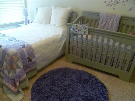nursery in bedroom maddie s purple grey nursery project nursery