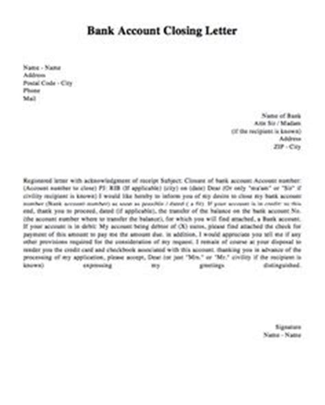 account closing letter for indusind bank templates on