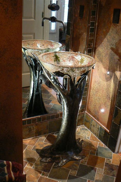 Artisan iron 187 bathroom sink pedestal and accessories