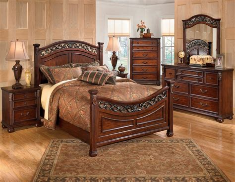 panel bedroom furniture leahlyn panel bedroom set from ashley b526 57 54 96
