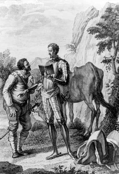 [Grabado] Don Quijote le lee a Sancho la carta para