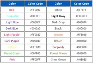 html code for text color html text color codes image search results