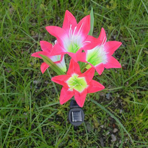 Led Waterproof Flower L Aa Pcwc04 solar 4 led flower light color changing energy saving outdoor garden l ebay