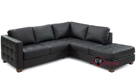 compact leather sectional sofa barrett leather stationary chaise sectional by palliser is