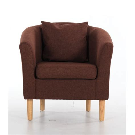 brown fabric armchair fabric tub chairs deluxe fabric tub chair armchair dark