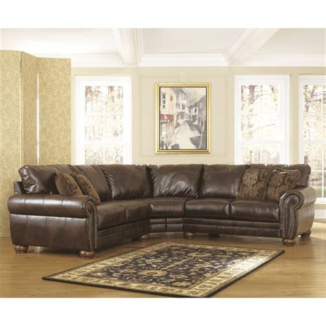 leather sectional sofa ashley signature design by ashley furniture walcot leather sofa