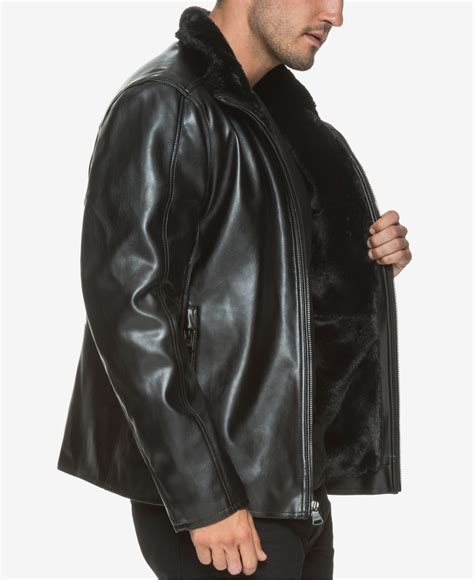 New York Jacket Mc539x lyst marc new york s gilead faux leather jacket in