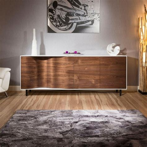 sideboard living room luxury large modern sideboard cabinet high gloss walnut white home living room