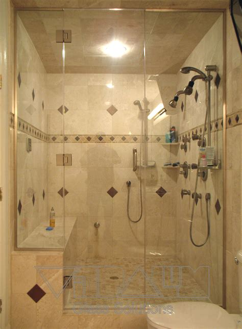 Exquisite Frameless Shower Sliding Doors Shower Room With Steam Shower Bathroom Designs