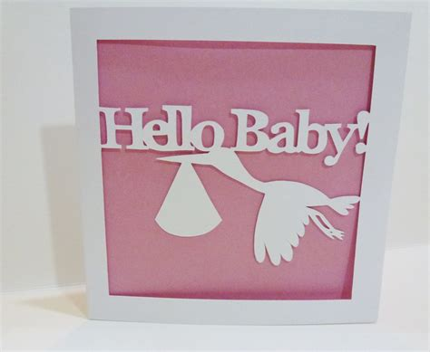 baby name card template hello baby new baby papercut card template totally