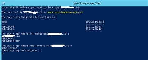 Who Owns Ip Address Search Who Owns The Assigned Azure Pack Ip Address