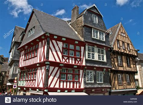 buy house brittany medieval half timbered houses old town morlaix finistere stock photo royalty free