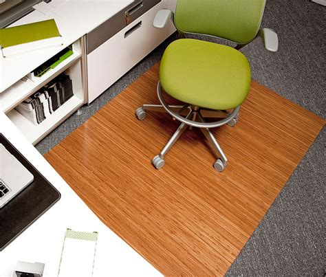 Bamboo Roll Up Chair Mat by Bamboo Roll Up Office Mat The Green