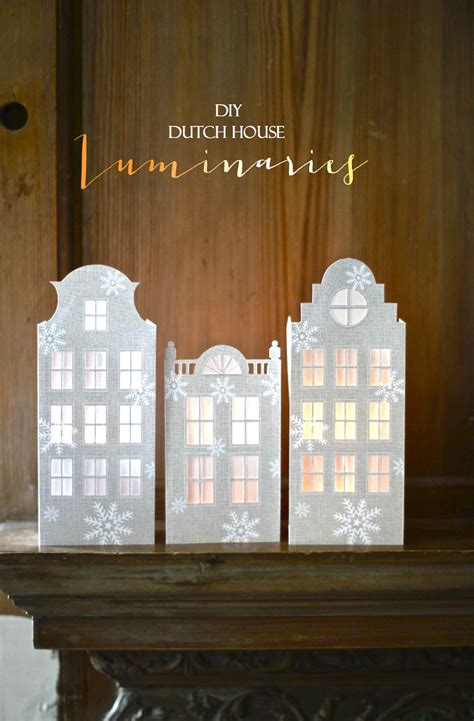 printable paper house luminaries printable mini house luminaries mini houses printable