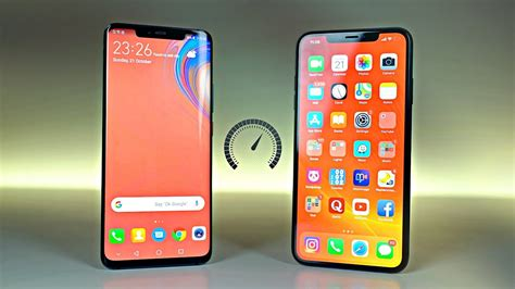 huawei mate 20 pro vs iphone xs max speed test