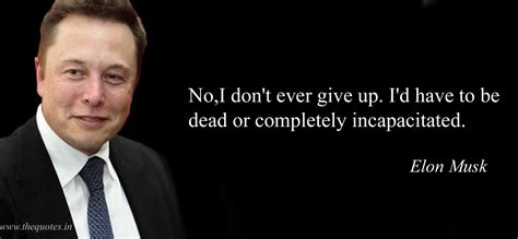 elon musk dead no i don t ever give up i d have to be dead or completely