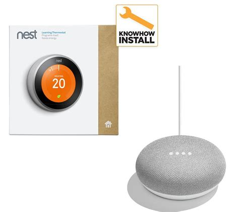 Buy NEST Learning Thermostat and Installation & Home Mini Bundle   Free Delivery   Currys