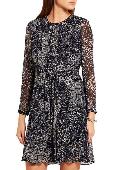 Friday Afternoon Dresses From Net A Porter by Burberry Printed Silk Chiffon Mini Dress Net A Porter
