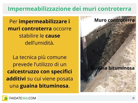 impermeabilizzazione muri interni impermeabilizzazione muri controterra
