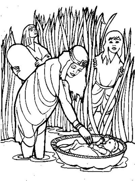 Baby Moses Coloring Page Bible Story Coloring Pages Baby Moses Coloring Page