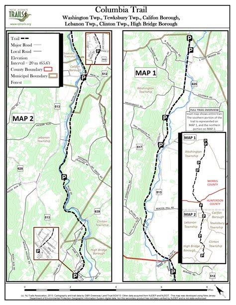 morris county section 8 columbia trailnew jersey trails association