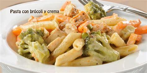 recetas de cocina pastas faciles receta de pasta con br 243 y crema cocina recetas f 225 ciles