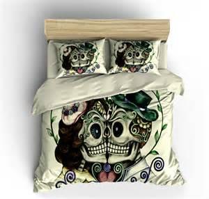 Send A Comforter Items Similar To Skull Bedding Sugar Skull Duvet Cover