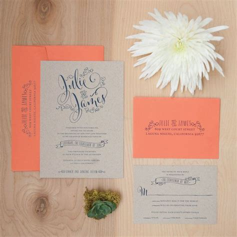 Hochzeitseinladung Boho by Rustikale Kraft Paper Hochzeitseinladung Einladung Boho