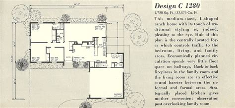 L Shaped Ranch House by Vintage House Plans 1280a Antique Alter Ego