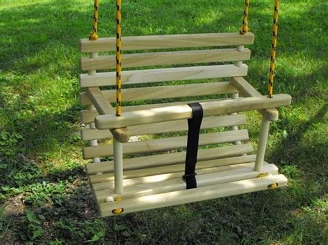 childs wooden swing childs swing toddler swing handcrafted wooden tree swing